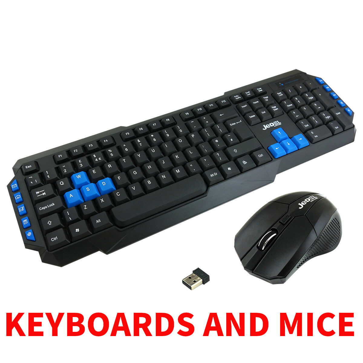 2.4GHz Ultra Slim USB Wireless Keyboard and Mouse PC Laptop Desk